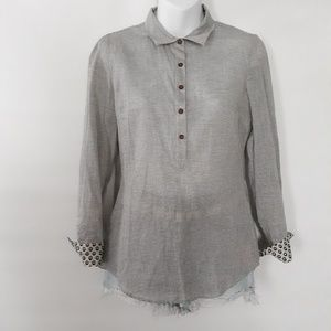 Birds of paradis* buttons down shirt size XS